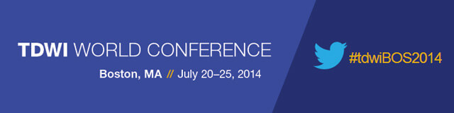 iCEDQ at TDWI World Conference 2014