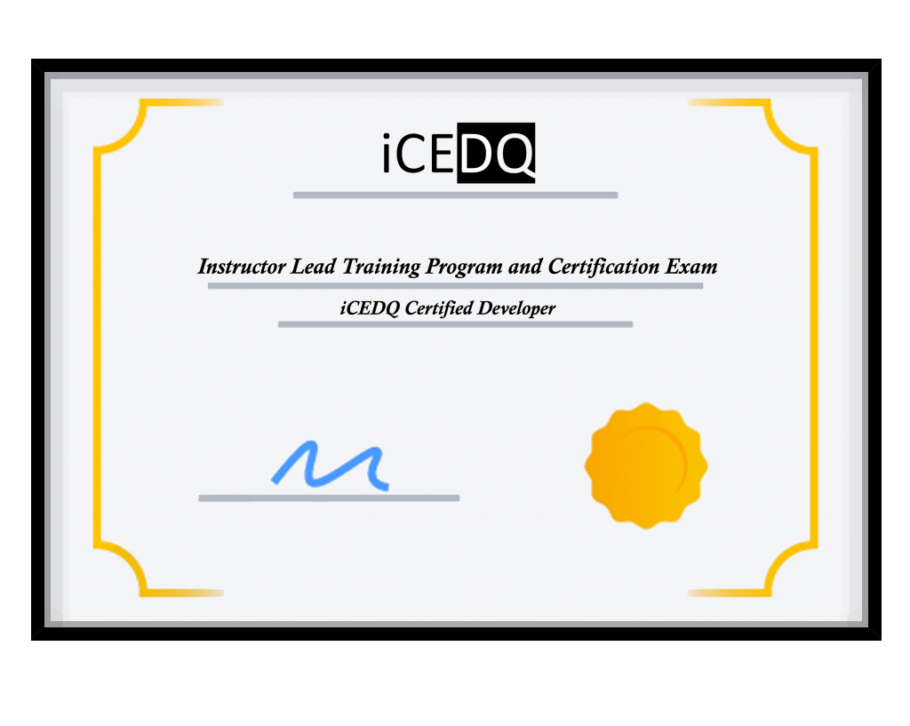 iCEDQ Training Certificate