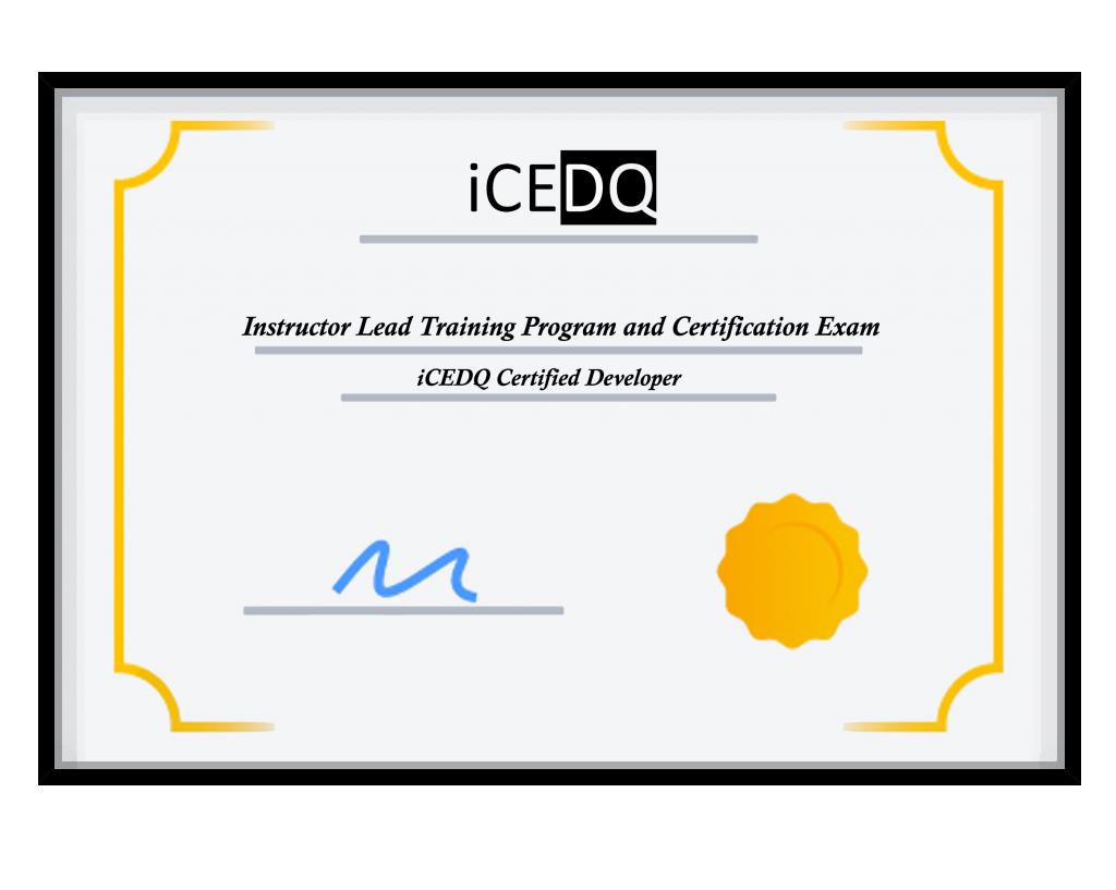 iCEDQ Training Certificate