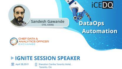 Sandesh Gawande to speak at Chief Data-iCEDQ