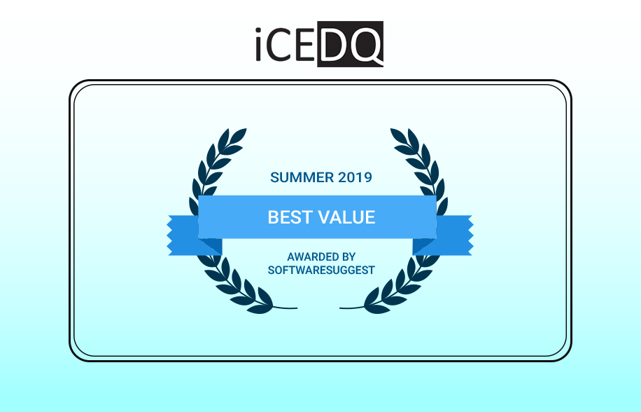 iCEDQ awarded as Best Value Software by SoftwareSuggest