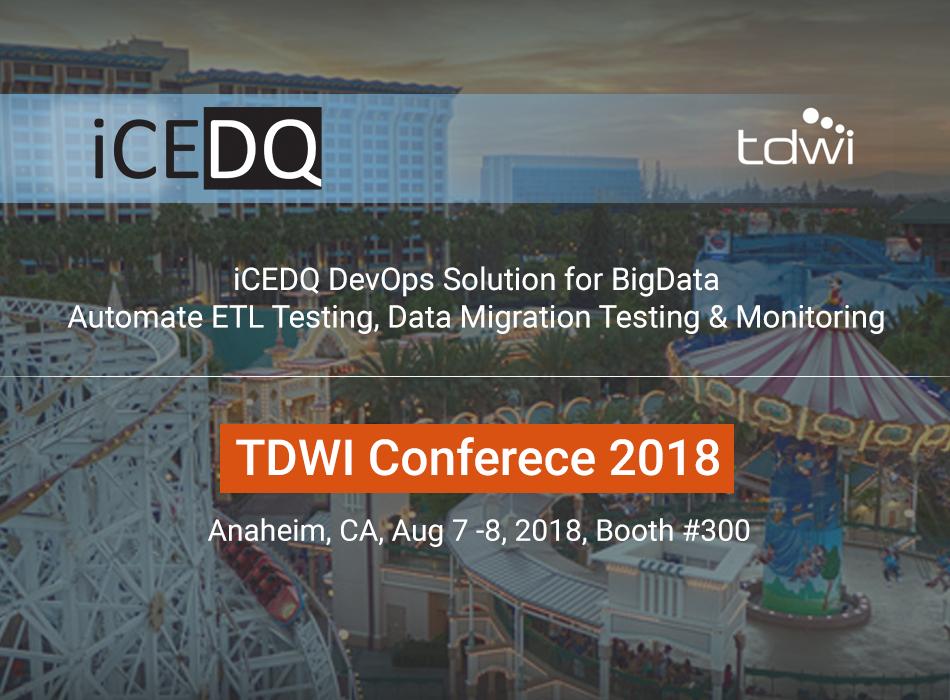 iCEDQ at TDWI Anaheim 2018