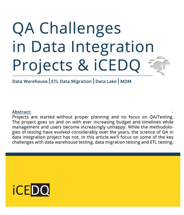 QA Challenges Data Integration Projects-iCEDQ