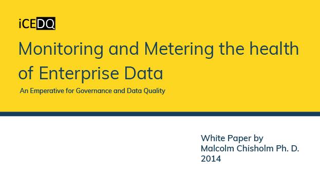 Data Health Monitoring & Metering-iCEDQ