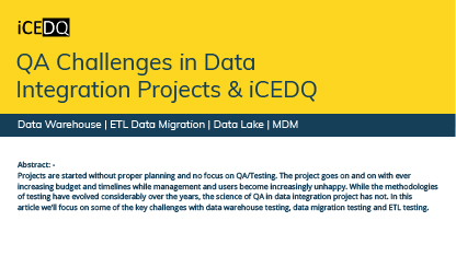 Qa challenges in data integration projects-iCEDQ