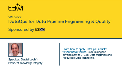 DataOps for Data Pipeline Engineering & Quality-iCEDQ