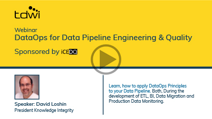 DataOps for Data Pipeline Engineering & Quality(Play)-iCEDQ